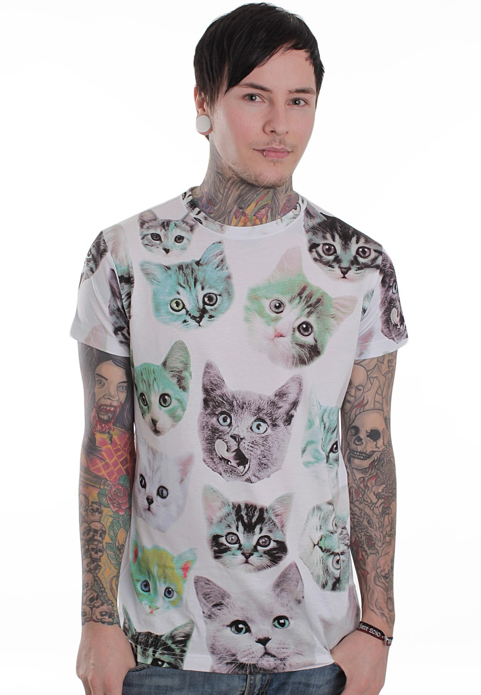 Drop Dead - Have You Seen My Kitty White - T-Shirt - Streetwear Online Shop - Impericon.com Europe