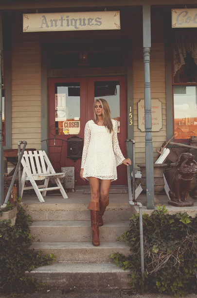 Anthropologie Free People Boho Bohemian Ivory Shift Boots Tall Lrather Long Sleeves Boutique Short Romantic Sexyfun