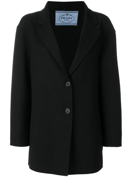 Prada blazer women black wool jacket