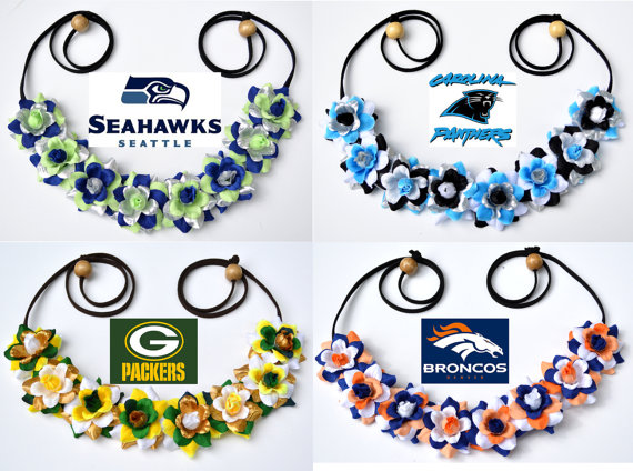 Nfl superbowl football game day flower crowns national football league team spirit sport accessory team apparel head gear headpiece floral