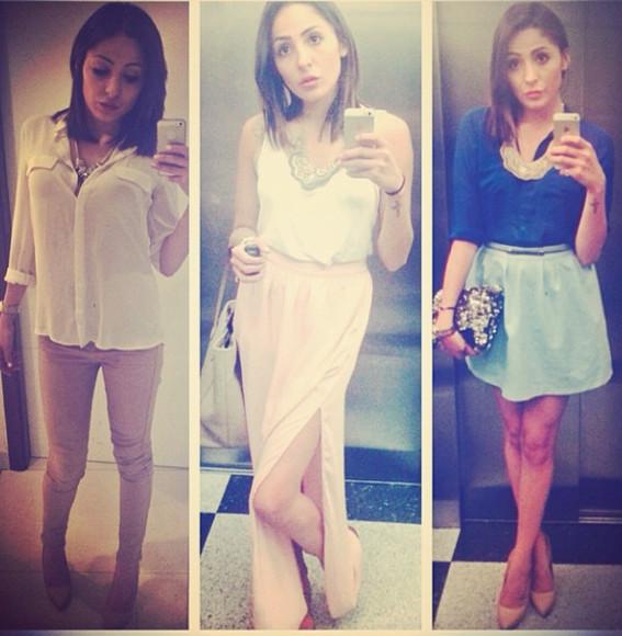 blouse pants shoes skirt dress
