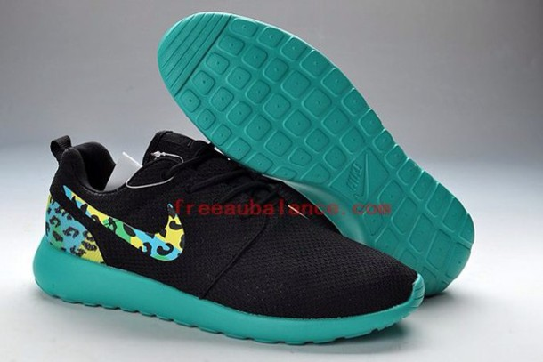 shoes black nike nike running shoes nike roshe run leopard print light blue nike roshe run