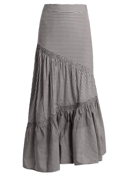 TEIJA skirt cotton gingham white black