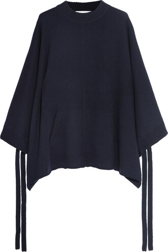 cape oversized navy top
