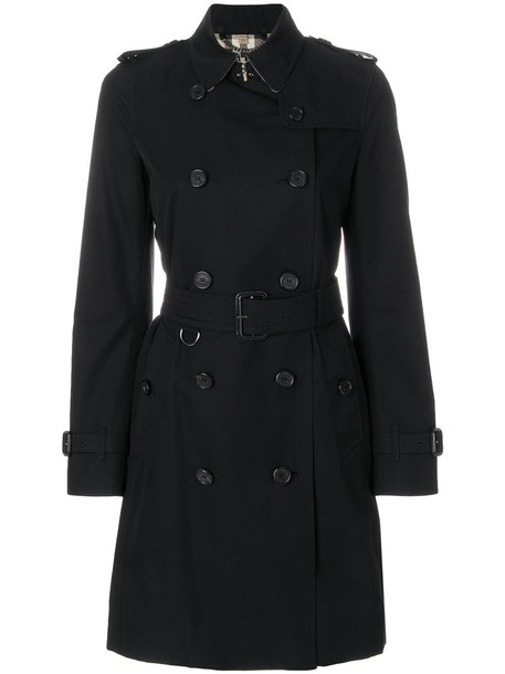 Burberry coat trench coat women cotton black