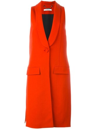 jacket sleeveless long red
