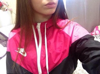 jacket pink and black nike jacket windbreaker pink adidas adidaswindbreaker nike nike windbreaker coat nike trainers nike sweater