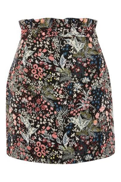 Topshop skirt mini skirt mini jacquard black