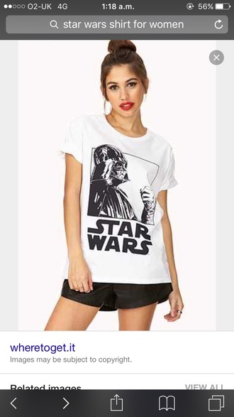 t-shirt star wars white