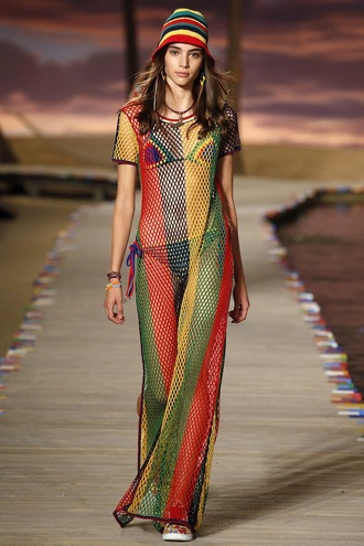 dress tommy hilfiger aliexpress rihanna rasta beach dress beach see through see through dress drake mesh dress maxi dress multicolor