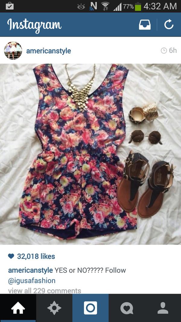 dress floral romper jumpsuit floral jumpsuit jumper