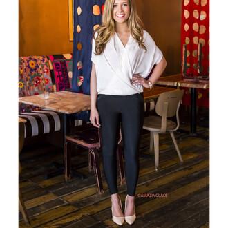 leggings pleather pants black pretty chic amazinglace detailed pockets buttons