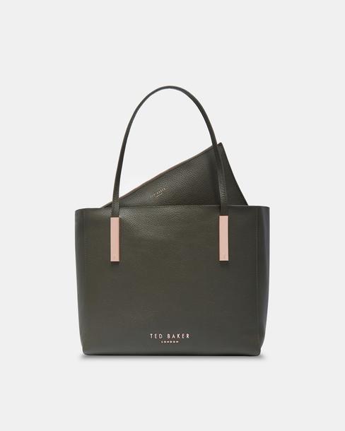 statement bag leather khaki