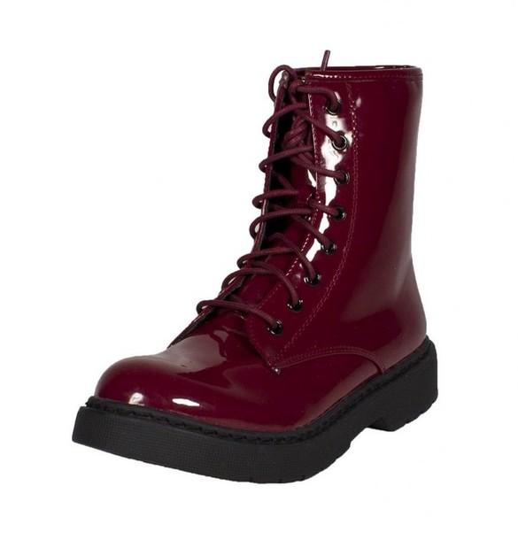 shoes, red, black, combats, combat
