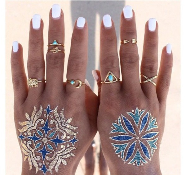 temporary tattoo knuckle ring ring party make up jewels jewelry rings and tings gold ring boho bohemian boho jewelry arrow summer beauty