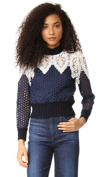 top lace navy