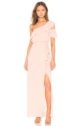 gown peach dress