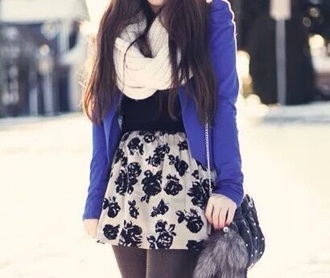 skirt black and white skater skirt fashion fall outfits