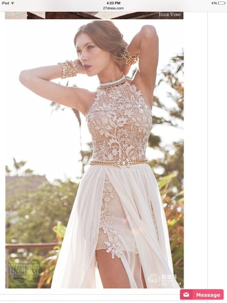 dress wedding gown wedding dress lace white gold evening dress pretty love prom dress prom gown long prom dress