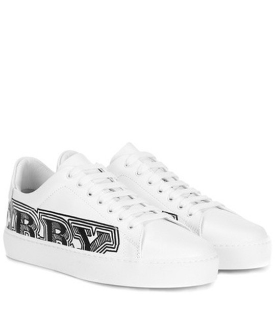 Burberry sneakers leather white shoes