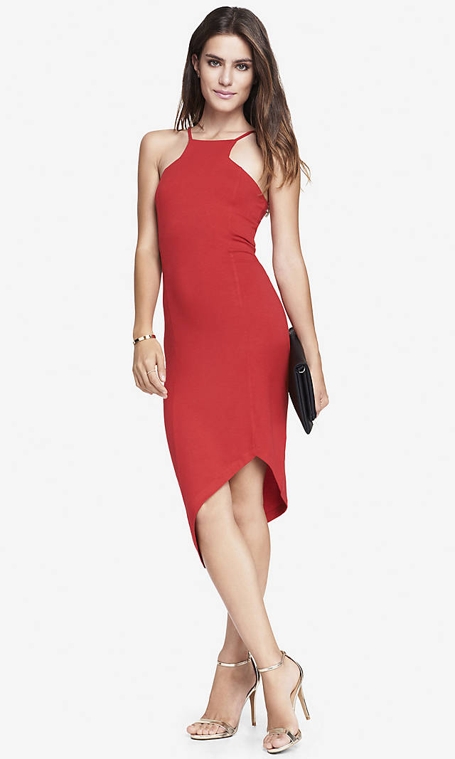 CUT-IN CAMI DRESS from EXPRESS