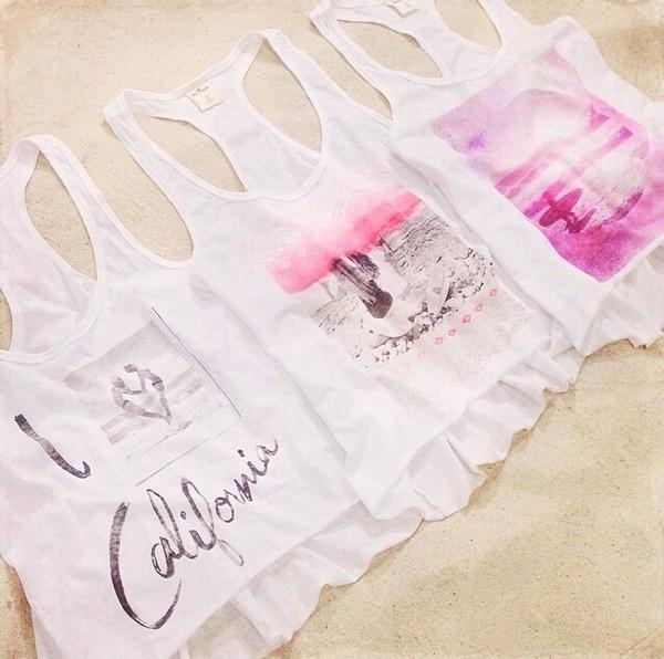t-shirt t-shirt shirt top white california graphic tee