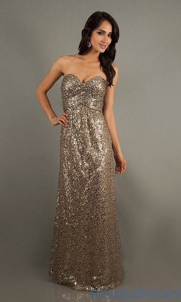 dress gold sequin sweetheartt