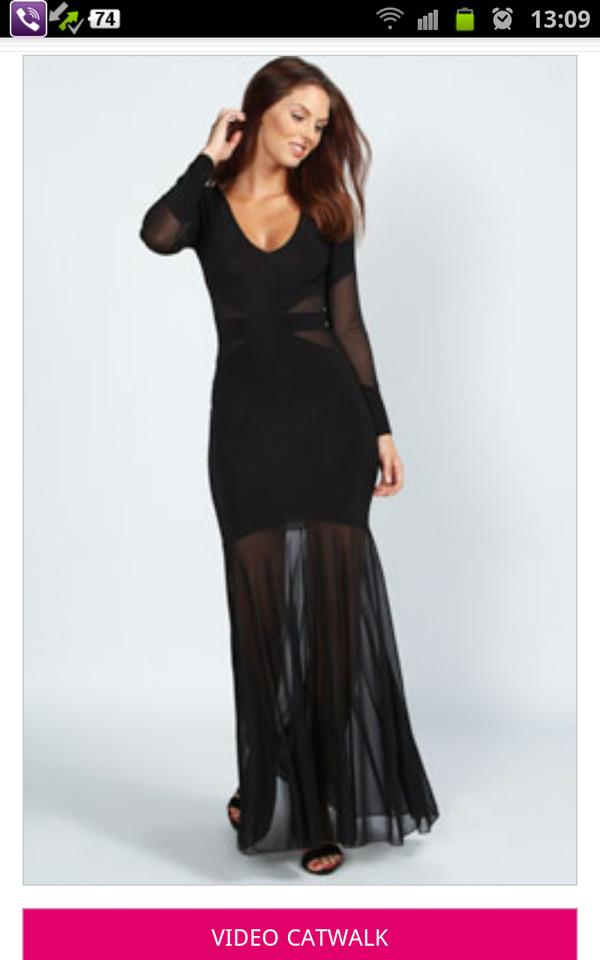 dress black prom dress long dress long prom dress cut-out dress