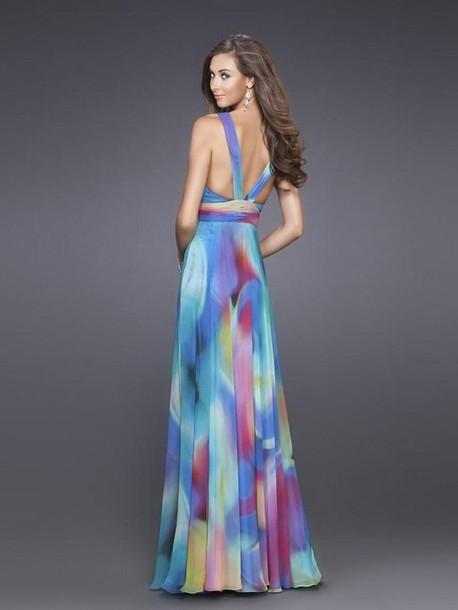 Watercolor maxi dresses