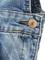Light blue pocket ripped denim overalls