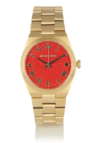 Michael Kors | Channings gold-tone stainless steel watch | NET-A-PORTER.COM