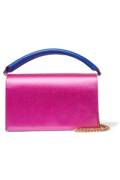 Diane Von Furstenberg bag shoulder bag leather pink satin