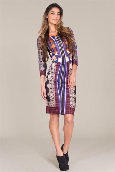 dress fashion aztec bodycon dress