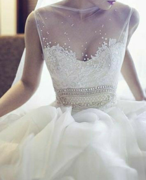 transparent top wedding dress lace dress wedding dress lace