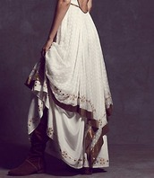 dress,free people maxi dress,skirt,boho,prom,layered,free people