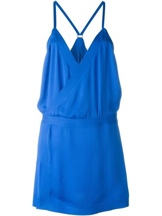 dress loose dress loose spaghetti strap blue