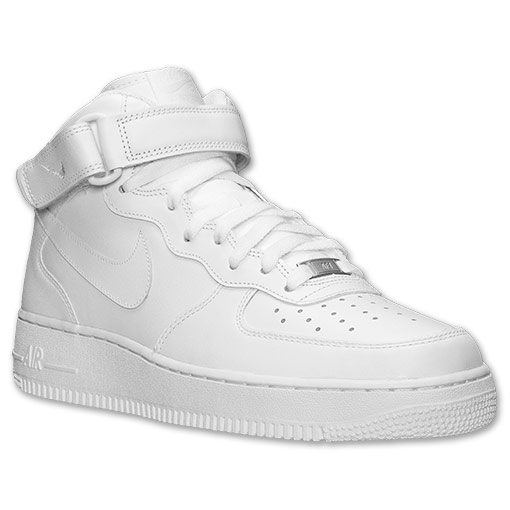 Men's Nike Air Force 1 Mid Casual Shoes | Finish Line | White/White