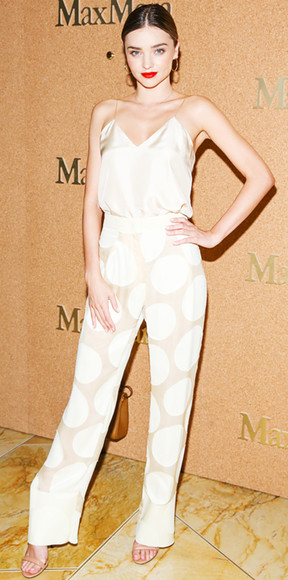 miranda kerr top pants jumpsuit clubwear