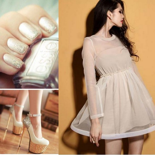 shoes heels fashion high heels dress lovely dress cute dress outfit nails cute lovely