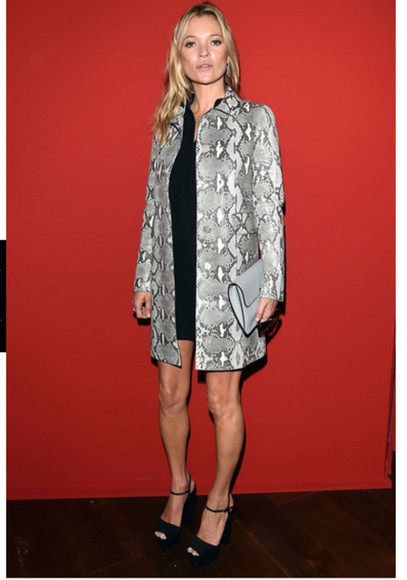 kate moss fashion week 2014 coat
