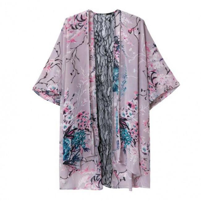 Lace Spliced Kimono
