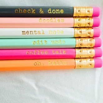 home accessory pencils back to school