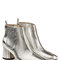 Metallic leather ankle boots - marc jacobs | women | gb stylebop.com