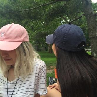 hat urban pink hat pastel pink