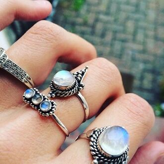 jewels shop dixi gypsy boho bohemian hippie grunge jewelry jewelery sterling silver moonstone ring