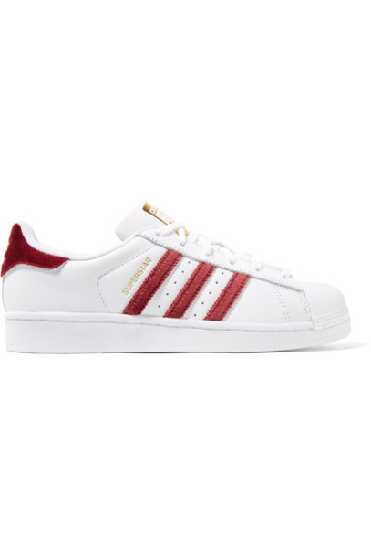 Adidas Originals sneakers leather white velvet shoes