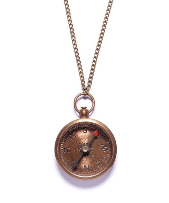 We Are All Smith Vintage Compass Necklace | BLUEFLY up to 70% off designer brands