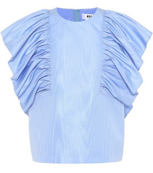 MSGM top sleeveless top sleeveless blue