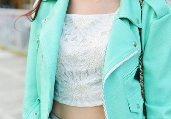 mint blue green jacket blazer