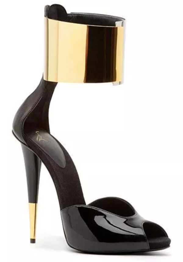 shoes gold strap buckle strap sandals high heels